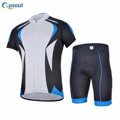 Outdoor Men's Short Sleeve Cycling jersey 3D Padded