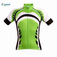 Mens Breathable Short Sleeve Cycling Jersey Sportswear Quick Dry