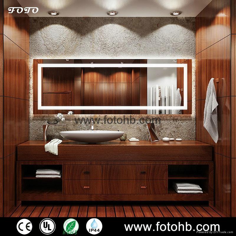 CE/UL/IP44 LED Backlit Illuminated Bathroom Mirror 5