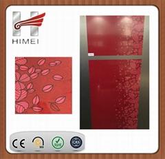 pvc film laminated sheet for refrigerator doors