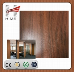 Wood grain laminated sheet for partition wall
