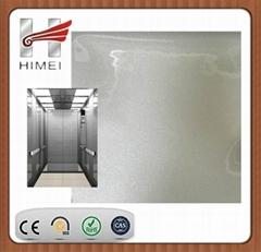 VCM/PVC film laminating steel sheet for elevator