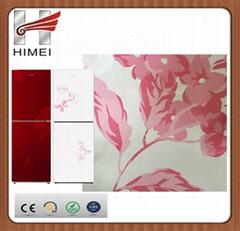 Himei Flower Pattern PVClaminatesteelsheet for refrigerator