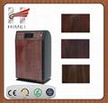 Wood grain galvanized steel sheet for