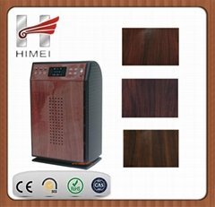 Wood grain galvanized steel sheet for air cleaner