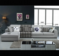 Sectional sofa top selling living room fabric & leather sofa furniture