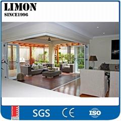 Suondproof aluminium cheap interior folding doors price for sale
