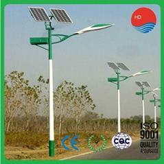 RoHS CCC 11m 80W Waterproof Aluminum Alloy Solar Street Lamp