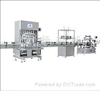 Automatic four nozzles filling production line