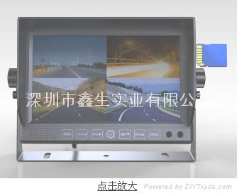 7寸4分割显示器+行车记录仪 1