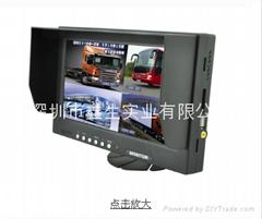 9寸4分割显示器+行车记录仪