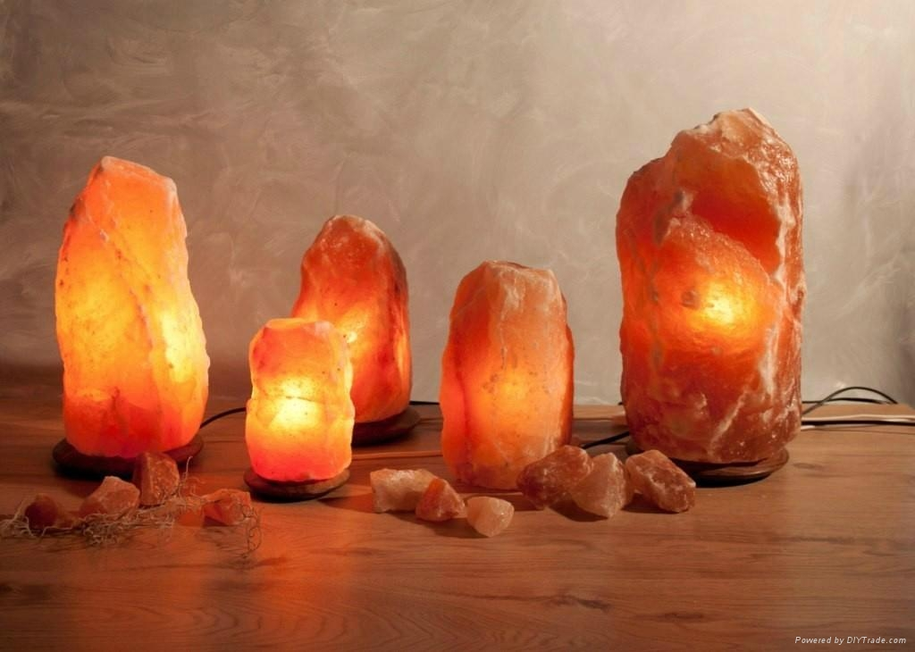 Crystal Himayalan Rock Salt Natural Lamps 1