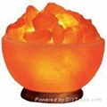 Crystal Himayalan Rock Salt Bowl Lamps