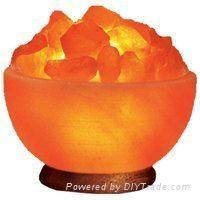 Crystal Himayalan Rock Salt Bowl Lamps