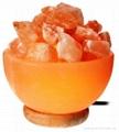 Crystal Himayalan Rock Salt Bowl Lamps  4