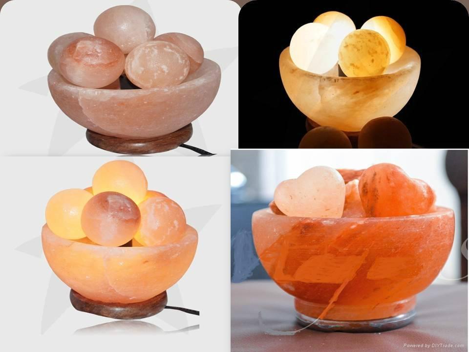 Crystal Himayalan Rock Salt Bowl Lamps  5