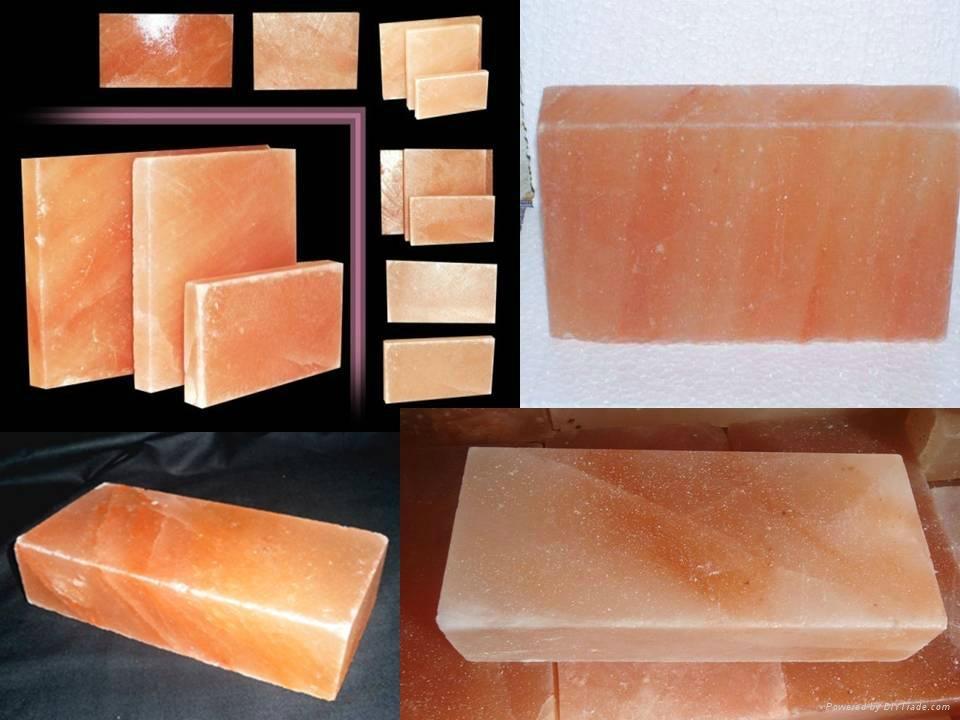 Crystal Himalayan Rock Salt Tiles and Bricks for Walls And Salt Caves