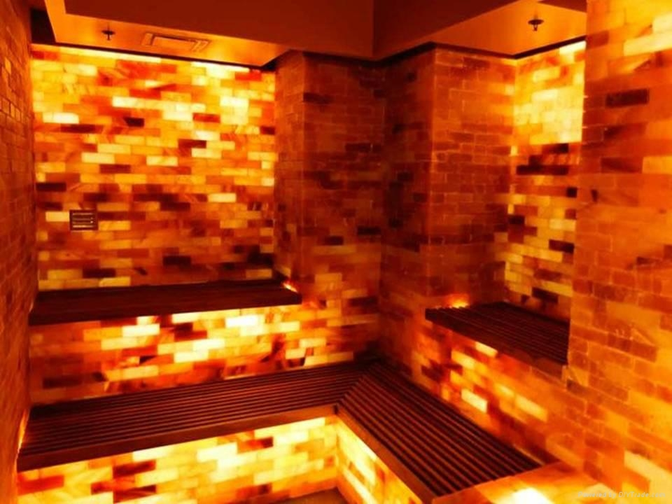 Crystal Himalayan Rock Salt Tiles and Bricks for Walls And Salt Caves 5