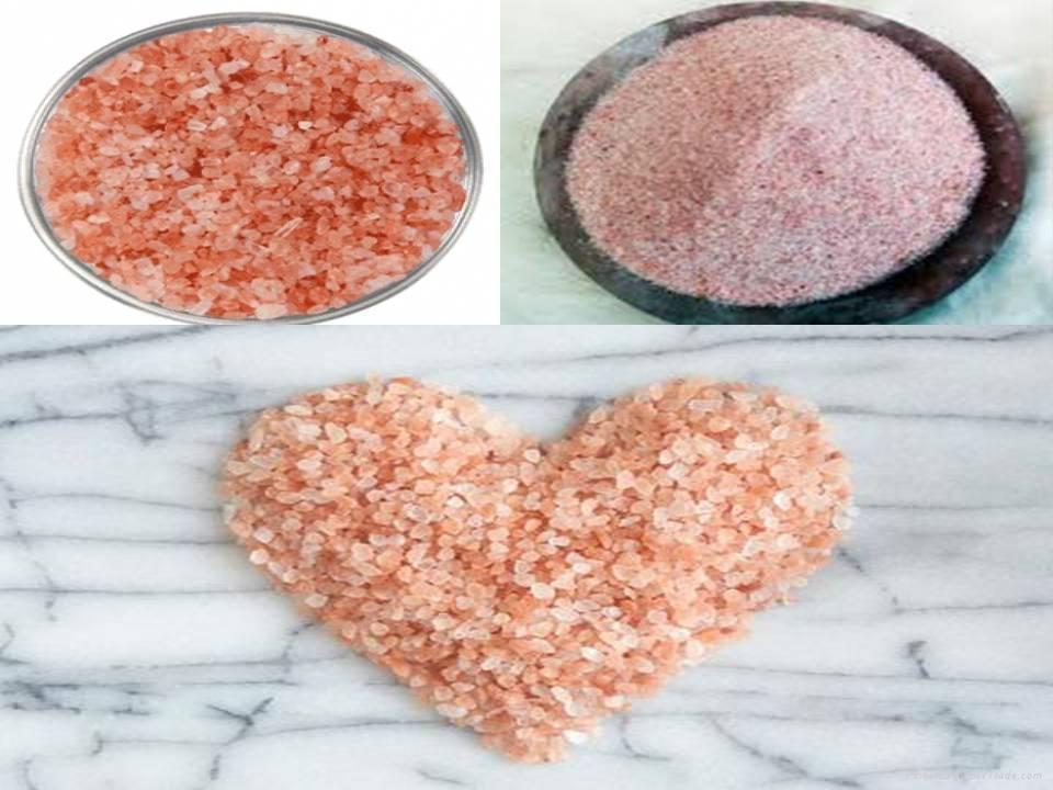 Granulate Pink Salt Granulate White Rock Salt 1