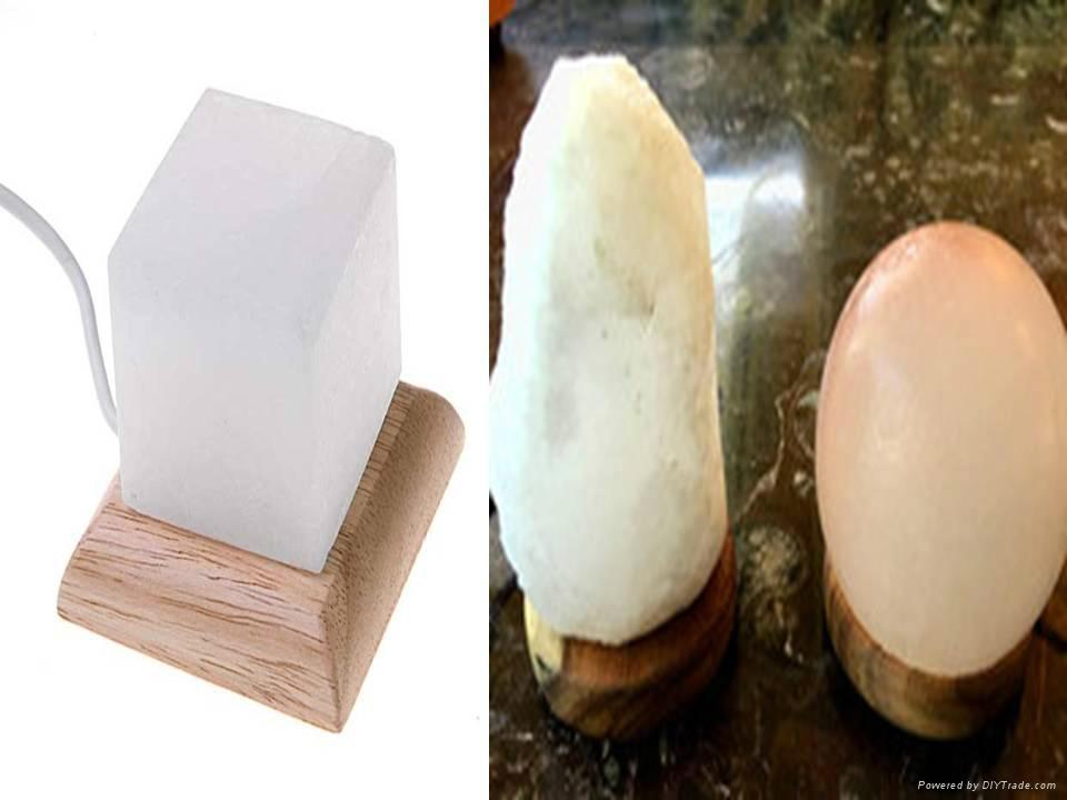 Himalayan Crystal Pure White Rock Salt Lamps 1
