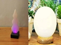 Himalayan Crystal Pure White Rock Salt Lamps