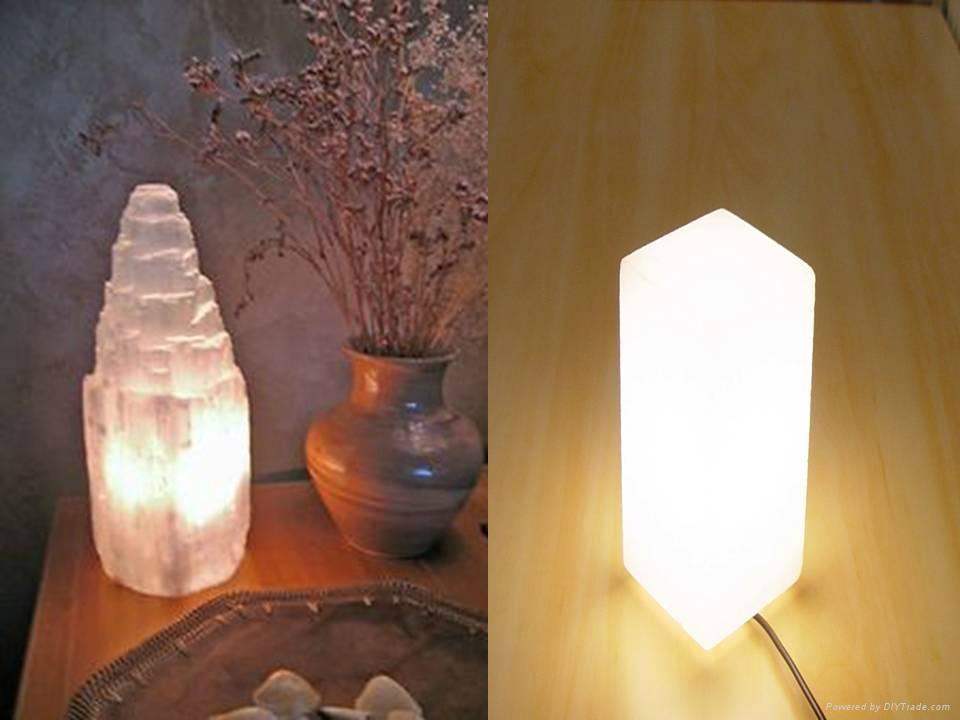 Himalayan Crystal Pure White Rock Salt Lamps 5