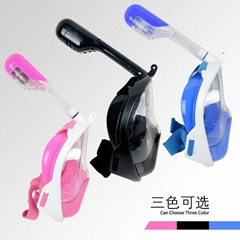 Hot sale silicone full face snorkel mask Water sports full face snorkel mask for