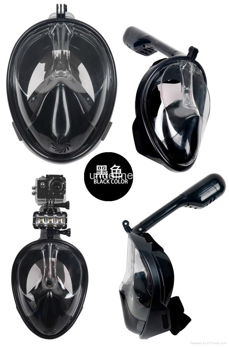 浮潜三宝神器全干式套装防雾成人儿童gopro潜水镜全面罩 1