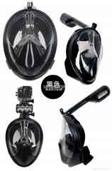 浮潜三宝神器全干式套装防雾成人儿童gopro潜水镜全面罩