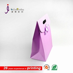 2016 newest paper gift bag with bowknot