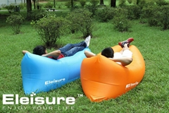 Eleisure Outdoor Inflatable Lounger Nylon Fabric Beach Lounger