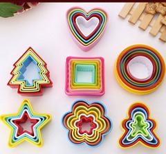 彩色塑料餅乾模