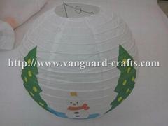 christmas round paper lanterns even