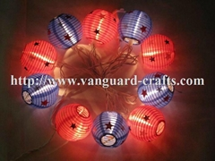 printed paper lantern LED decoration string lights color string lights lantern
