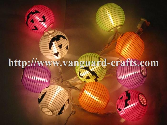 hallowee lantern LED decoration string lights color string lights lantern  1