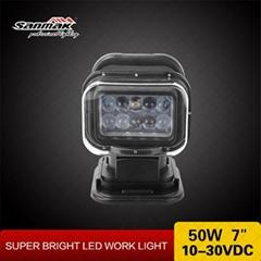 Marine 5W LED Spotlight Auto Car LED Spot Light Cree 50W Remote Control