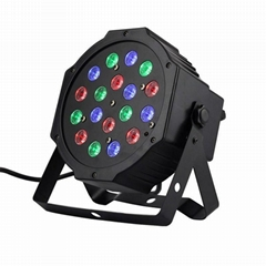 18pcs* 1w RGB Slim Flat LED Par