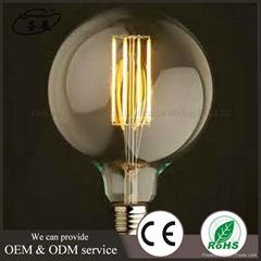 CE ROHS认证G125LED灯泡E27 8W 爱迪生仿古装饰灯泡