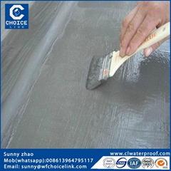 Exposed waterproof coating