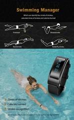 Fitness tracker Smartband Heart Rate Swimming Monitor band IP67 Waterproof
