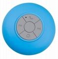 waterproof Handsfree wireless bathing portable bluetooth speaker Suction Cup 2