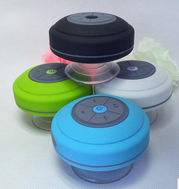 waterproof Handsfree wireless bathing portable bluetooth speaker Suction Cup 3