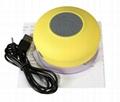 waterproof Handsfree wireless bathing portable bluetooth speaker Suction Cup 6