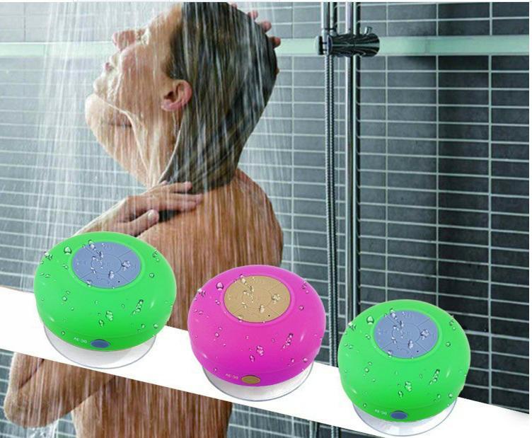 waterproof Handsfree wireless bathing portable bluetooth speaker Suction Cup 7