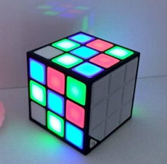 Magic Cube Colorful Wireless Portable Bluetooth Speaker with LED Flash Light