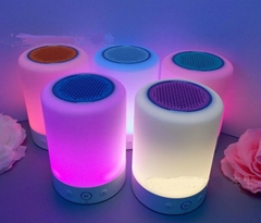 touch sensor led light bluetooth speaker, led table lamp with mini speake