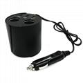 cupholder intelligent car charger with cigar cigarette lighter 1