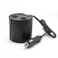 cupholder intelligent car charger with cigar cigarette lighter 2