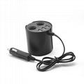 cupholder intelligent car charger with cigar cigarette lighter 3