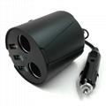 cupholder intelligent car charger with cigar cigarette lighter 5